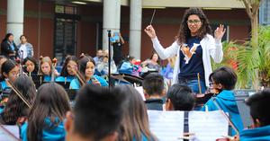 Valadez Middle School Academy celebrating their ten year anniversary.