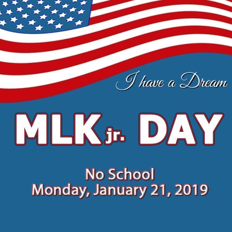 NO SCHOOL - Monday, January 21st Thumbnail Image