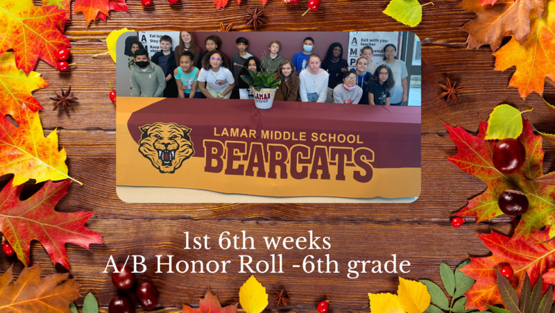 A/B Honor Roll- 6th grade- 1st weeks Featured Photo