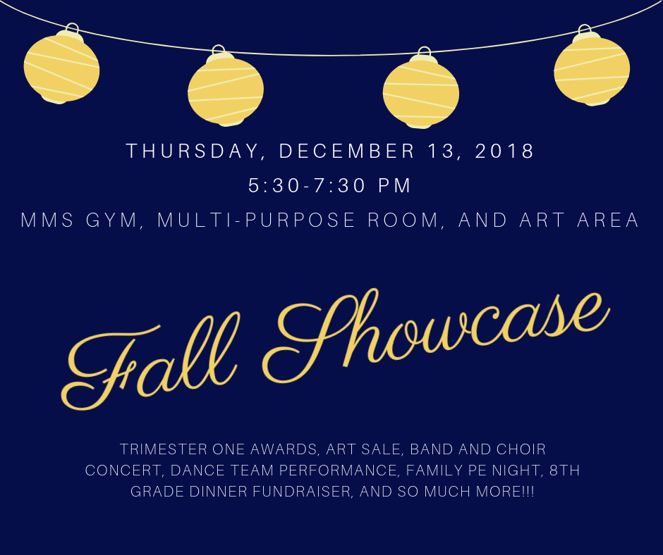 Poster for Fall Showcase, 12/13/18