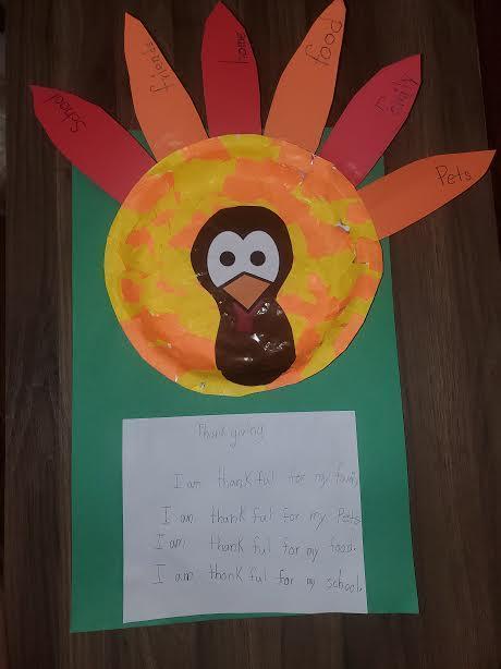 Paper mache thankful turkey