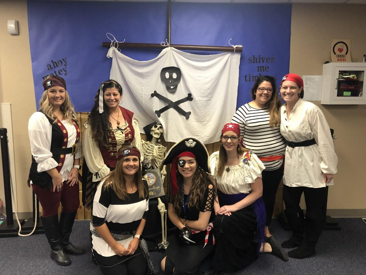Liberty Elementary third grade teachers and students recently celebrated National Dress Like a Pirate Day.