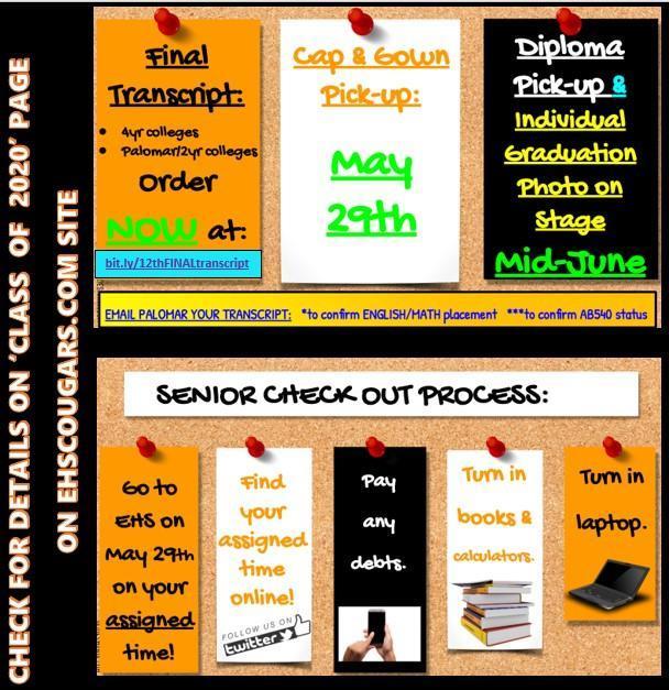 Seniors Important Dates