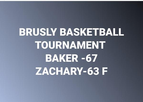 Score from Baker versus Zachary in Brusly Tournament
