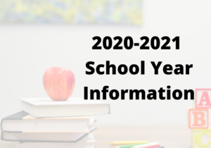 2020-2021 School Year Information