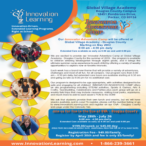 Innovation learning summer flyer