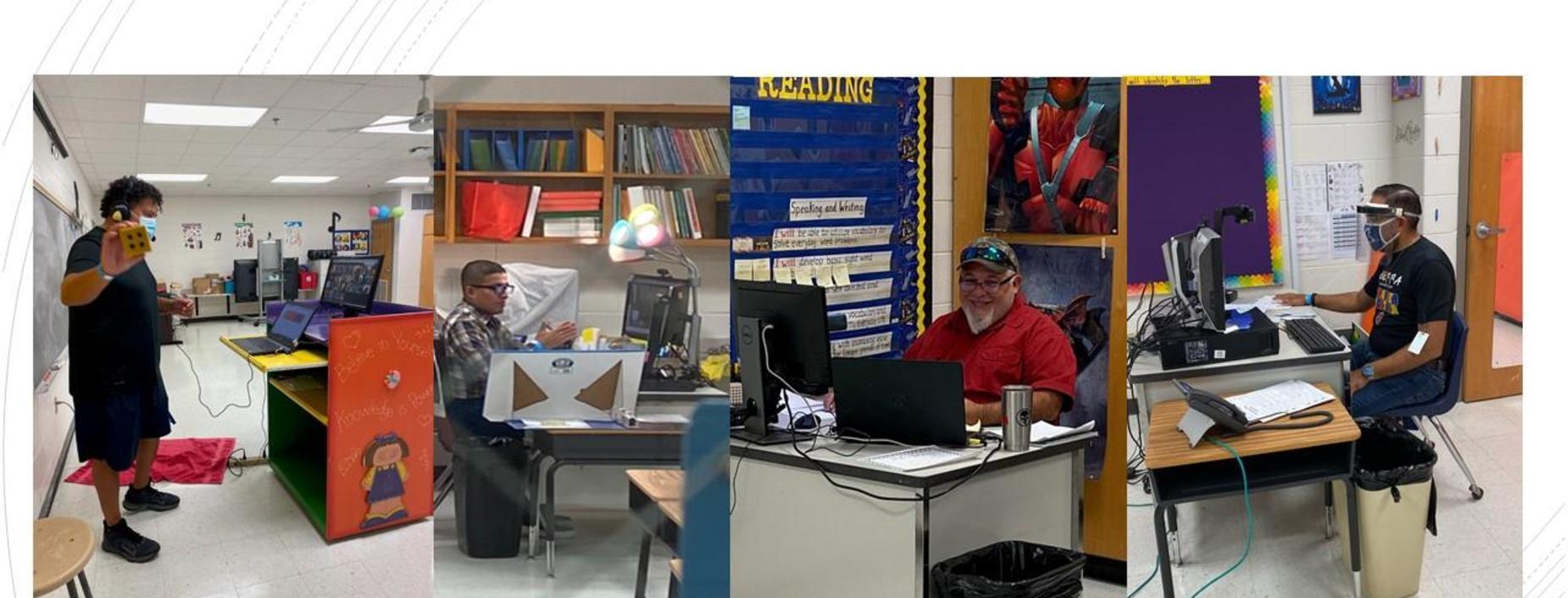 Teachers busy teaching virtually