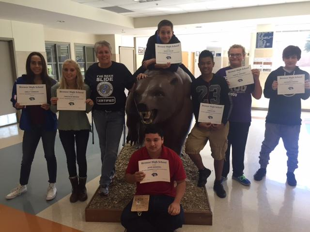 Juniors/Sophomores: Emily Timmons, Leigh Brown, Jesse Herrera, Scott Ellas, Aaron Pin, Blake Shockey and Angel Chavez were recognized by BHS Faculty/Staff for demonstrating BEAR Gumption for the first six weeks. GRIT!!