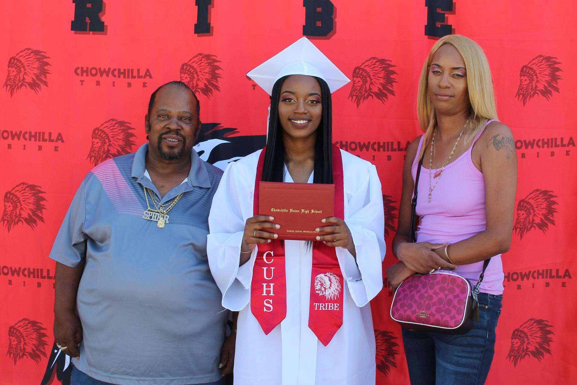 Samiah Henderson and family