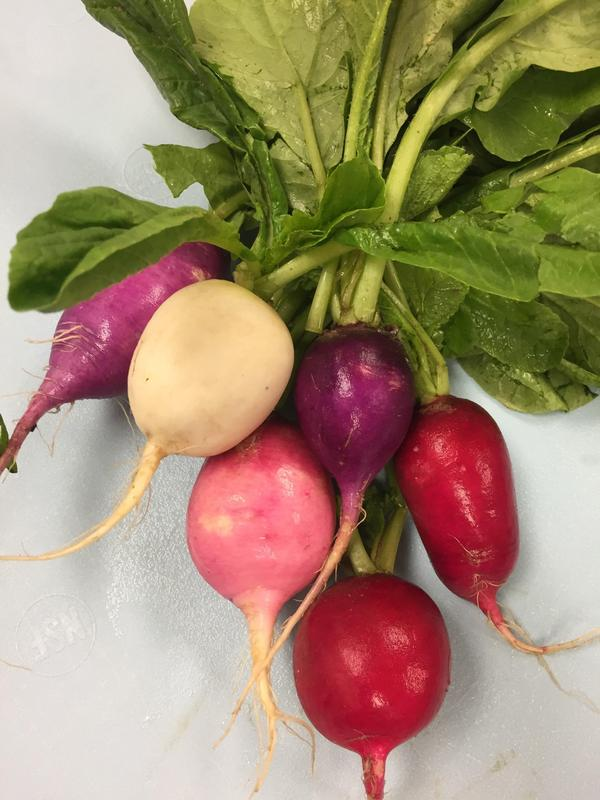 Easter Egg radishes are added to the TK food service menu.