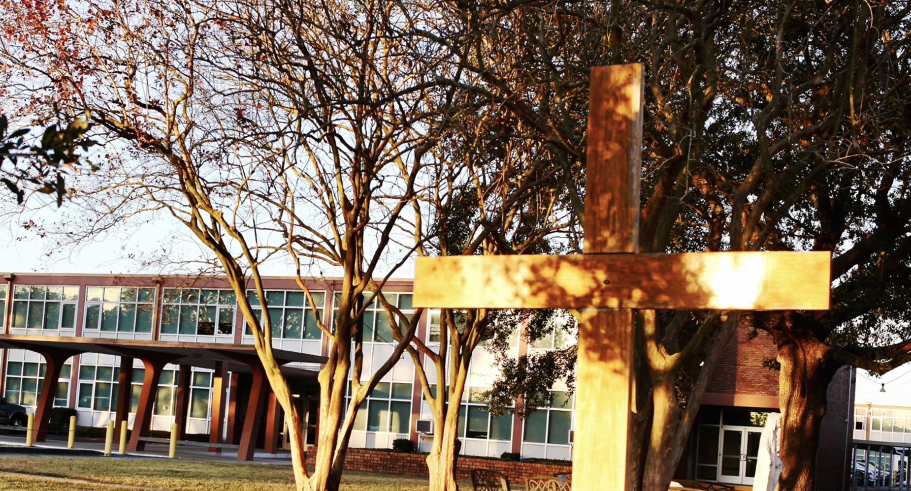 Cross and School Building