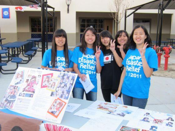 Japan Disaster Relief fundraiser at lunch in the quad