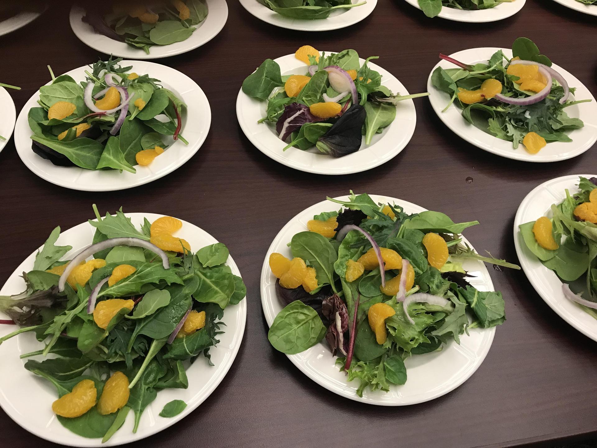 served salad