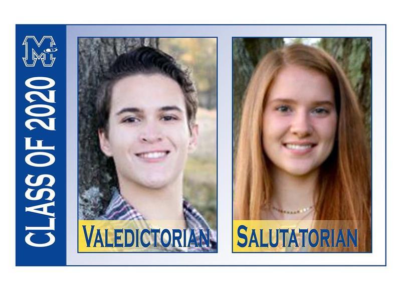 Class of 2020 Valedictorian Jack Felice and Salutatorian Ashley Edwards