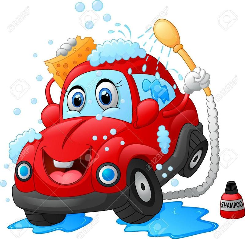 clipart of car washing itself