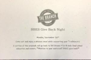 BBES Give Back Night at The Branch