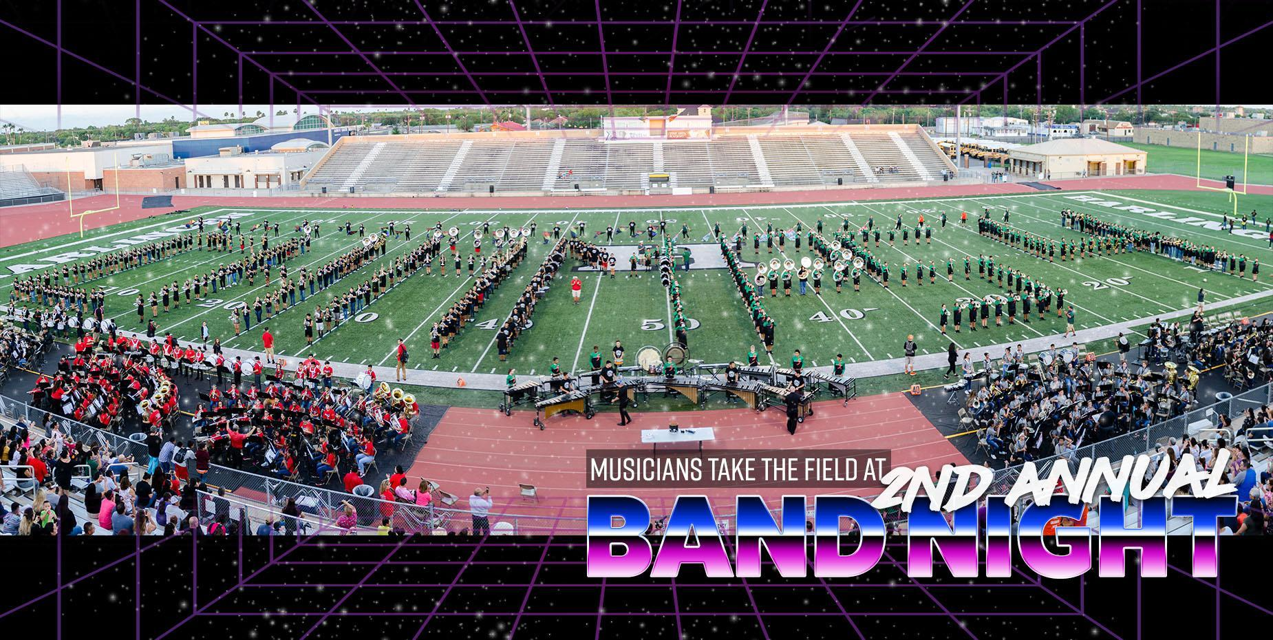 Musicians take the field at second annual Band Night