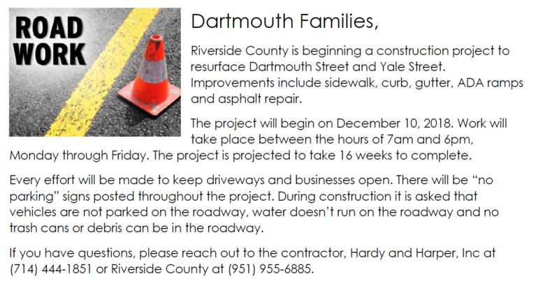 Road Work Notification