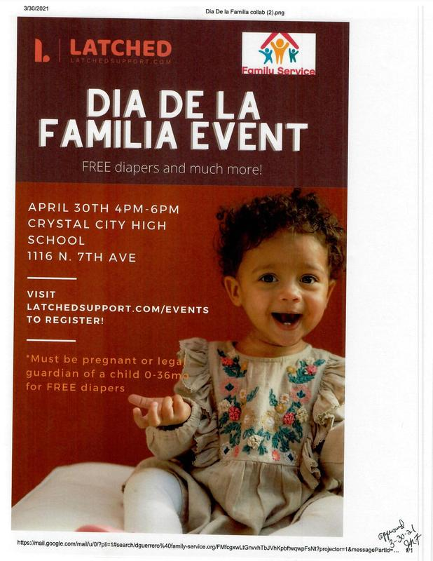 Dia De La Familia Event. Free diapers and much more. Featured Photo