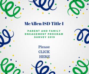 Parent and Family Engagement Survey