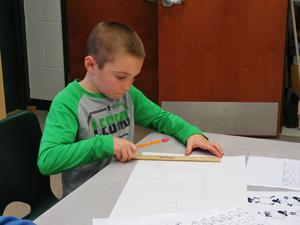Lee students learned different ways to draw.