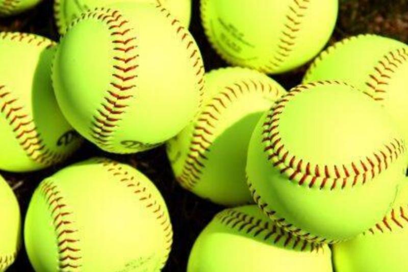 stock photo of softballs