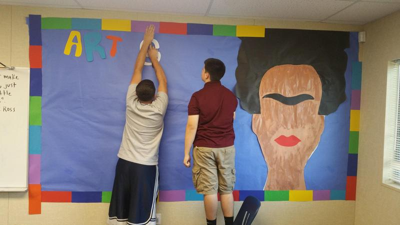 Students install Scorpion Art Gallery Thumbnail Image