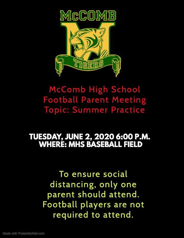 McComb High School Football Parent Meeting 2020  #ItsComeBackTime