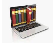books on computer screen