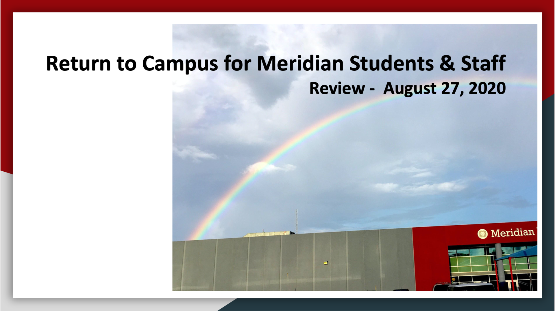 Return to Campus Overview