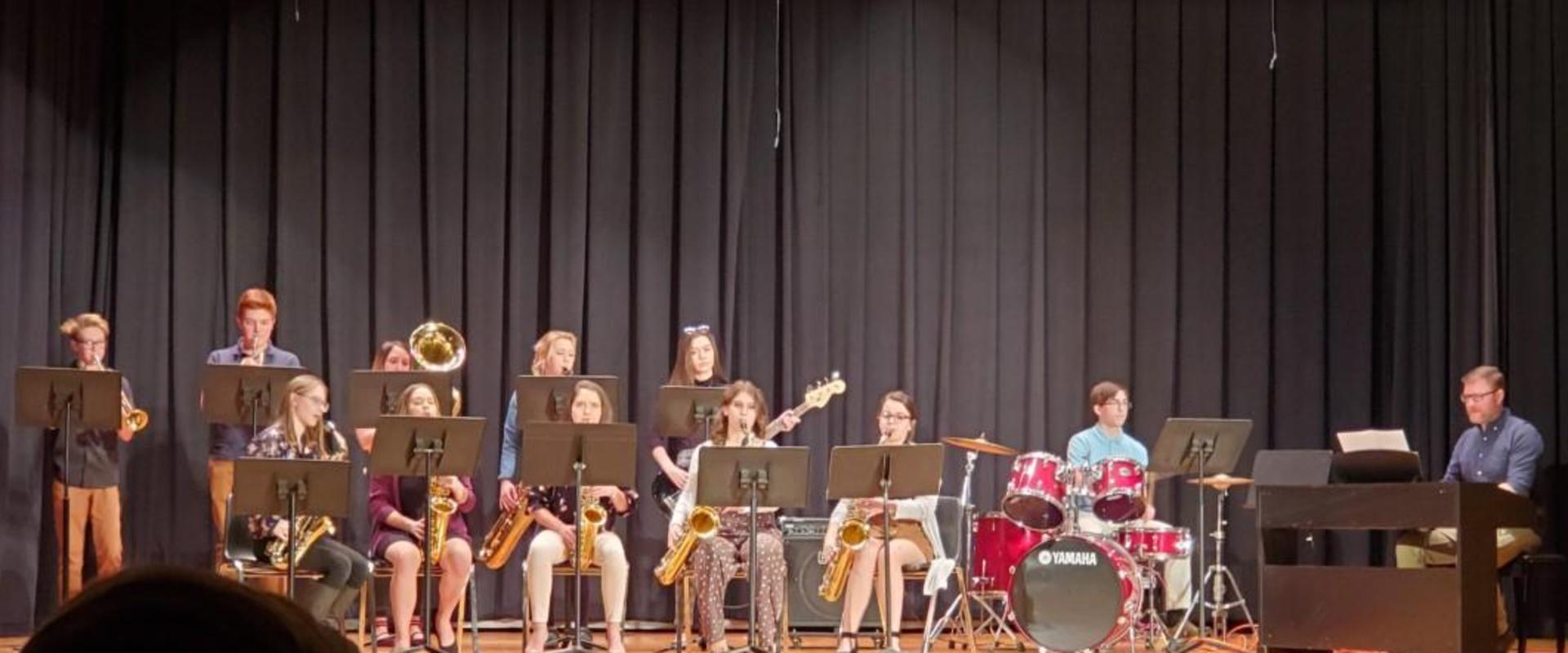 FASD Jr./Sr. HS Jazz Band at the Music Showcase on 3/7/20
