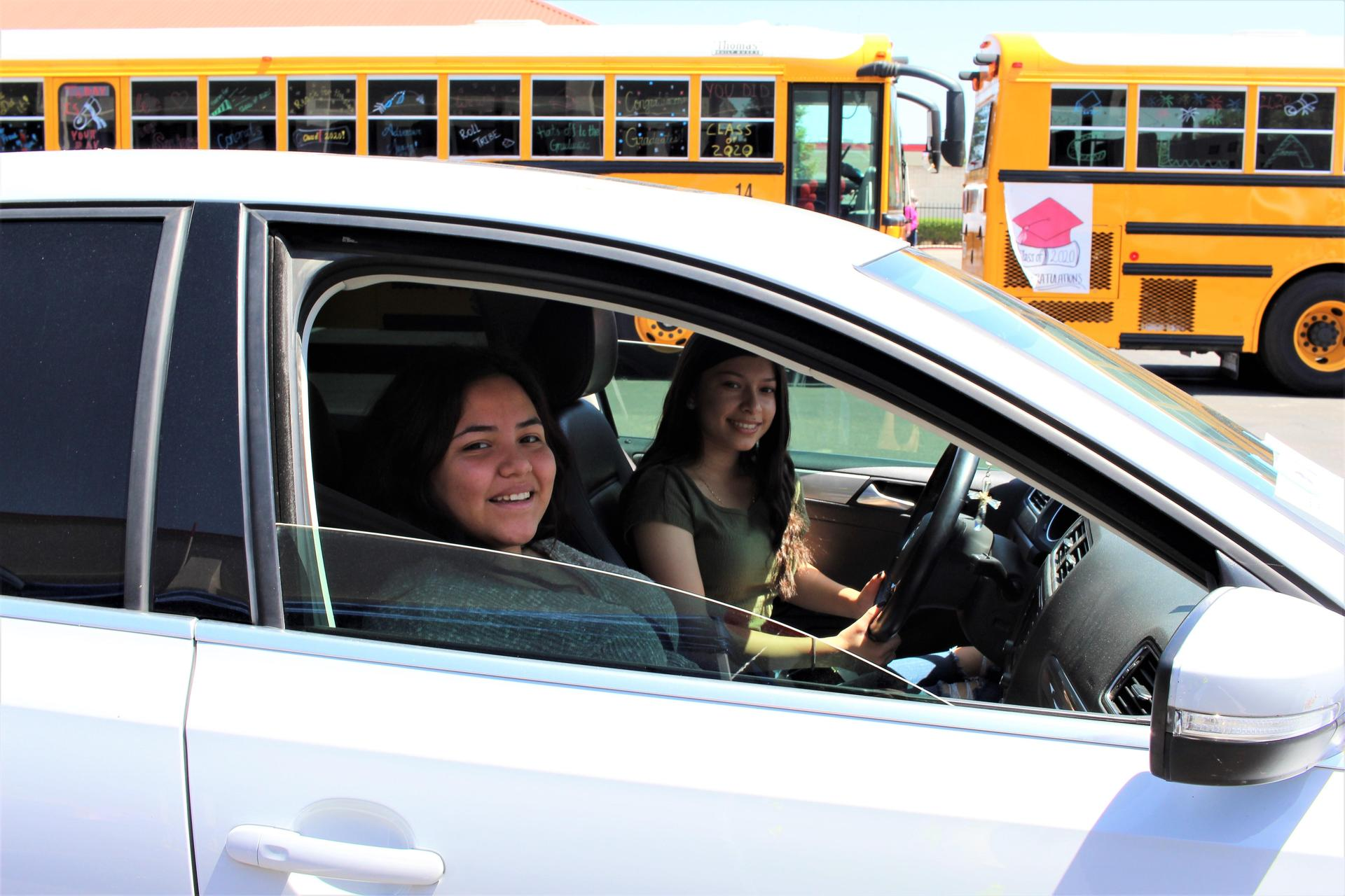 Andrea Reyes riding with Annai Martinez driving