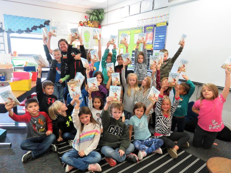 An anonymous donor is providing one new book for each student at Lee Elementary this year. Mrs. Woods class received