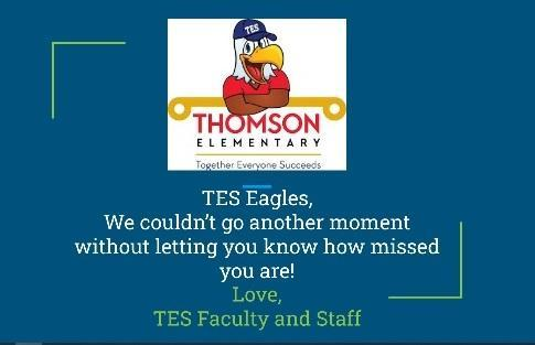 TES message saying we miss our students