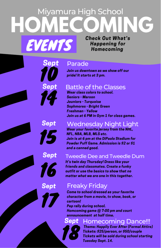Homecoming Events 9/14/21-9/18/21 Featured Photo