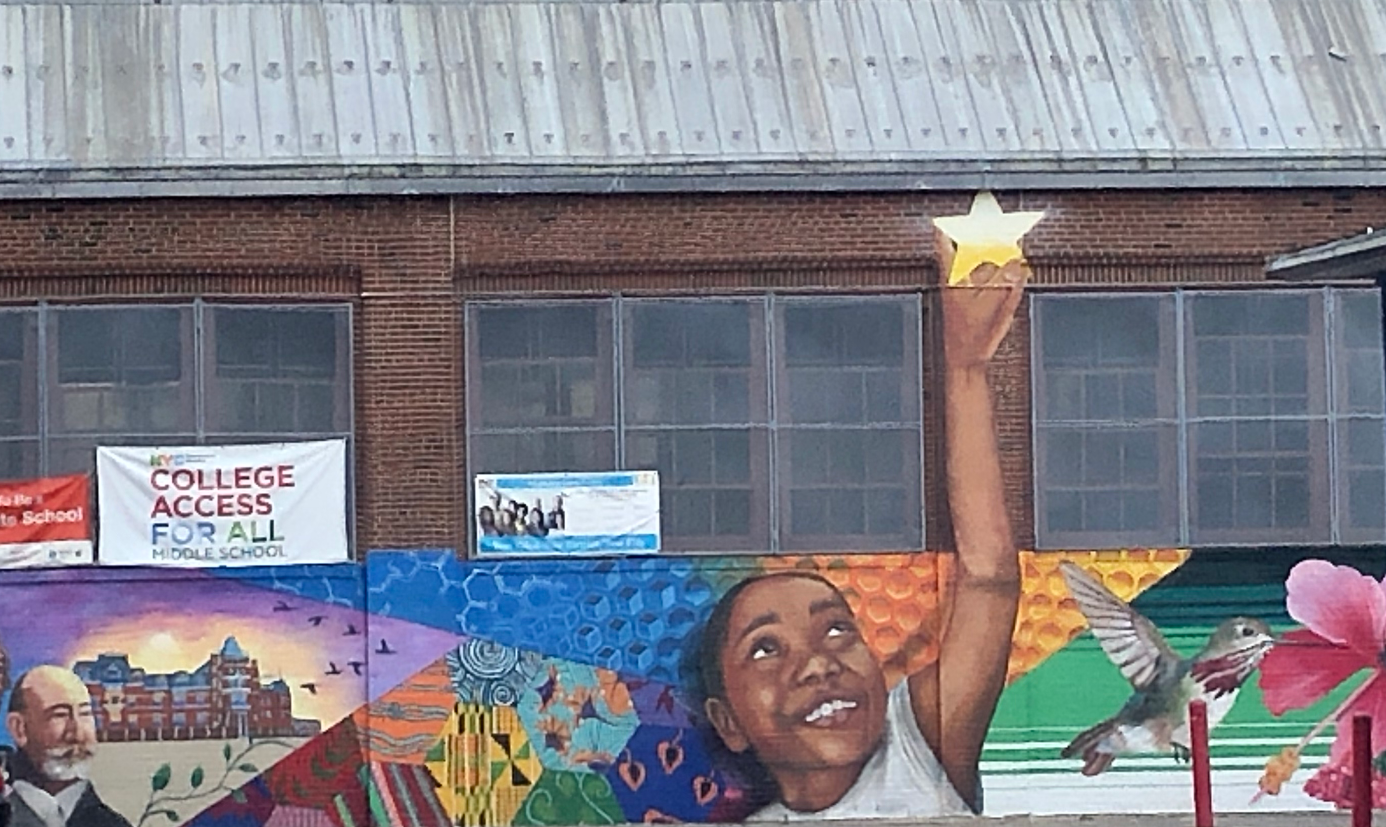 PS 192 courtyard mural