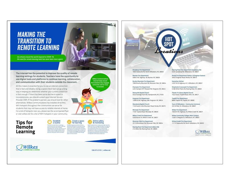 Free Hotspot Internet for Remote Learning - Powered by Wilkes Communications Thumbnail Image
