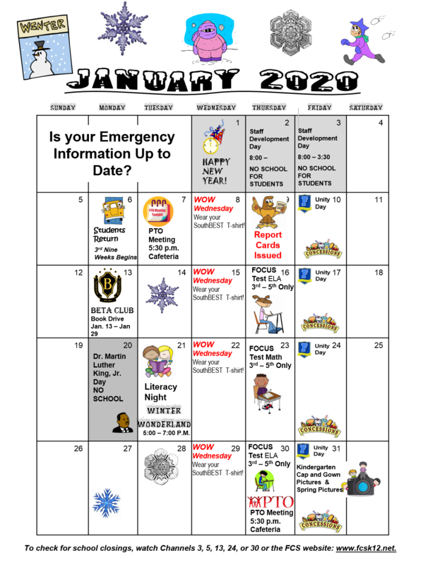 What's Happening in January 2020! Thumbnail Image