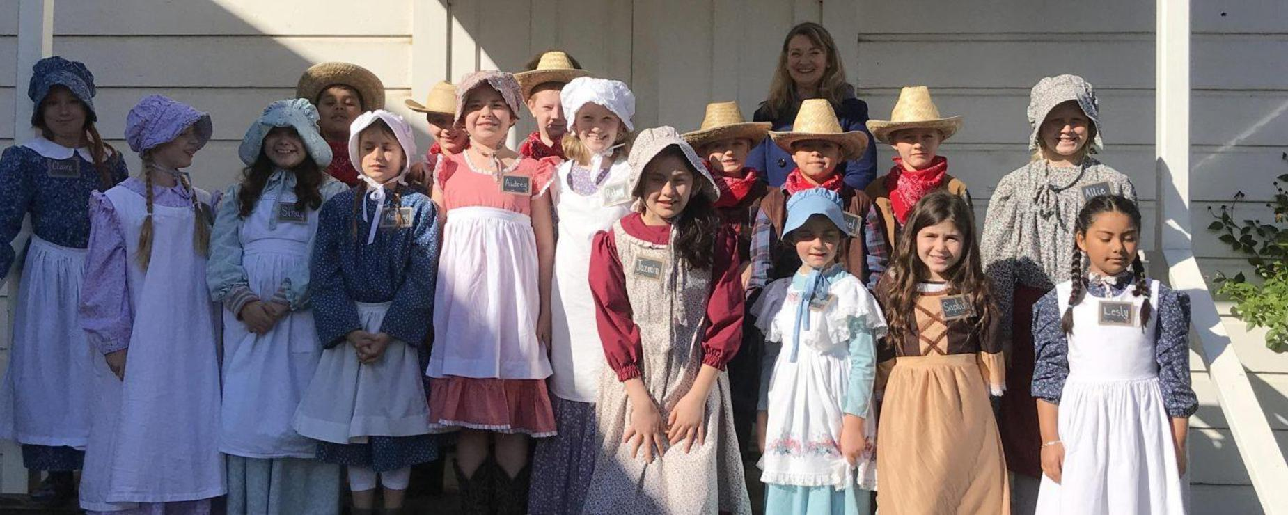 students in period dress