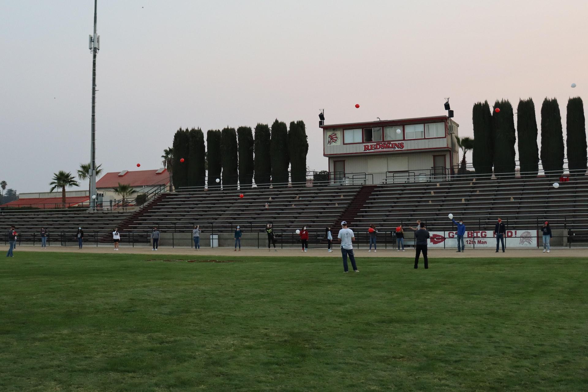 balloon release at senior sunrise
