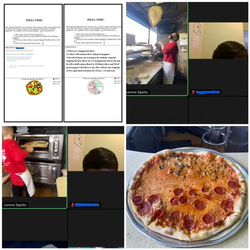 Pizza place trip collage