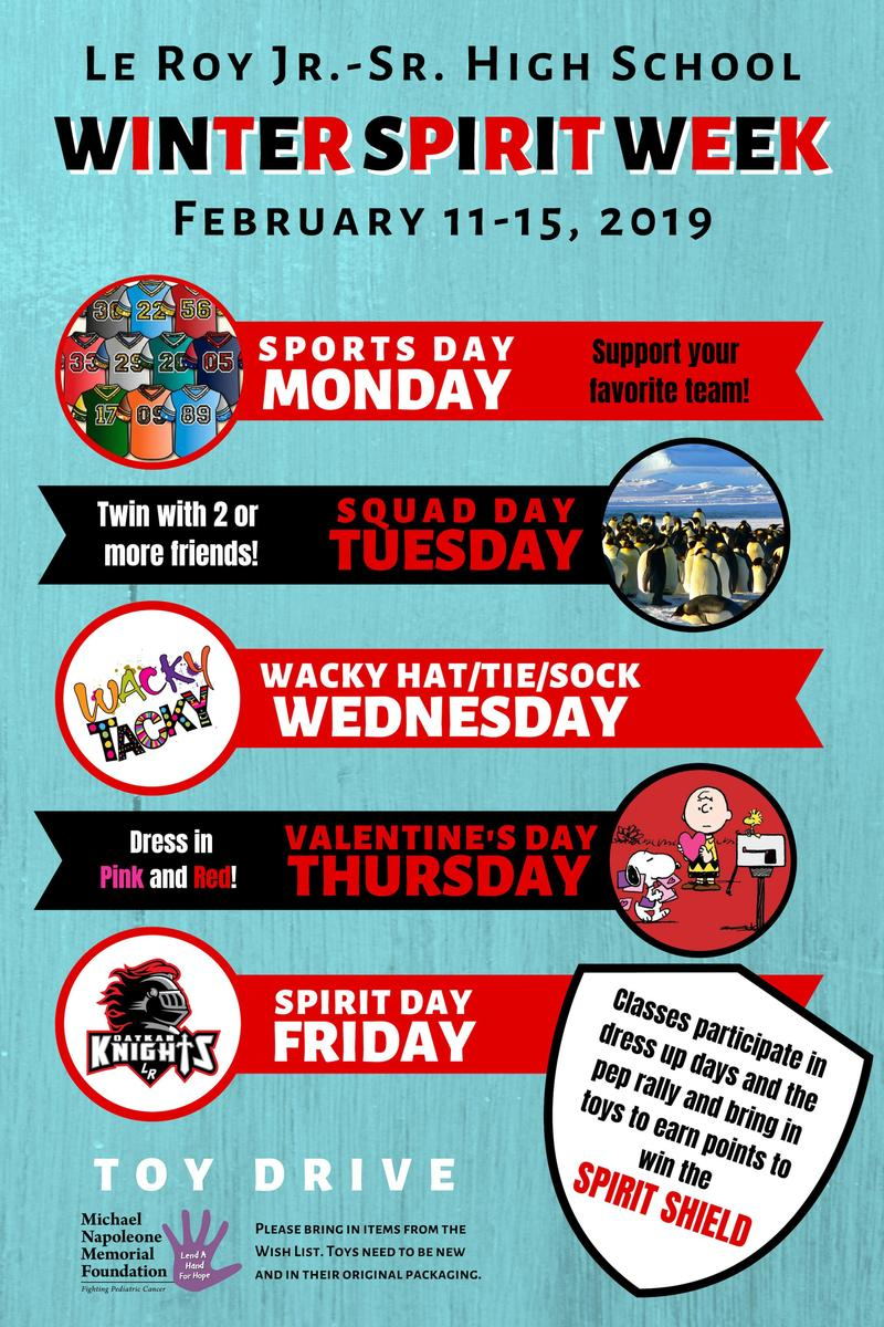 2019 Winter Spirit Week