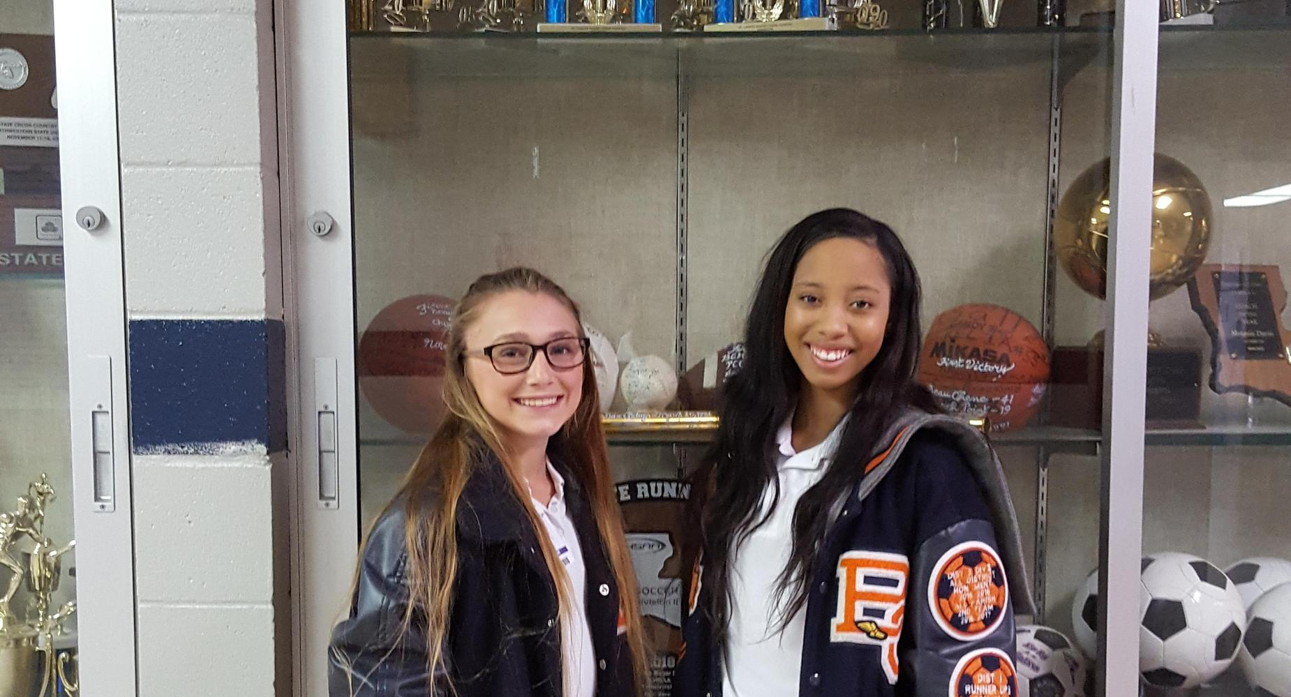 Congratulations to Mia D. and Amy D. for placing in the All-Academics Composite Girls Soccer Team - Division II