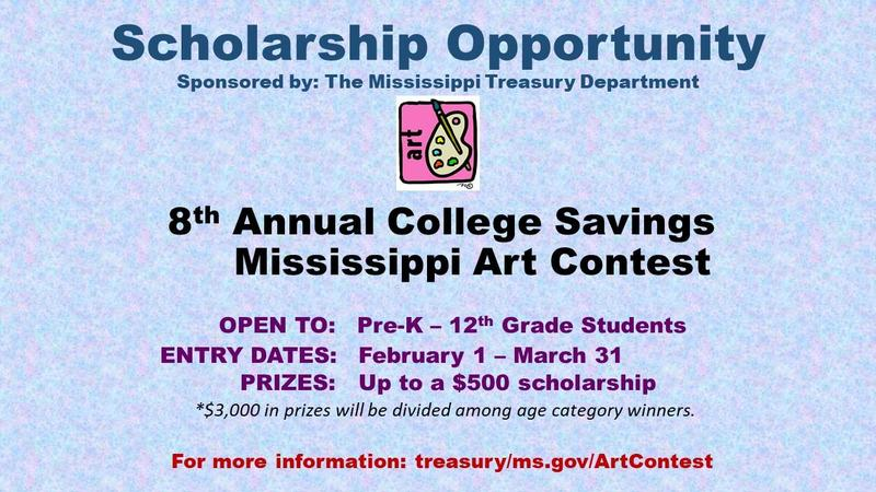 Mississippi Art Contest Graphic