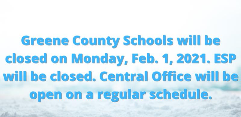 GCS Schools Closed Monday, Feb. 1, 2021