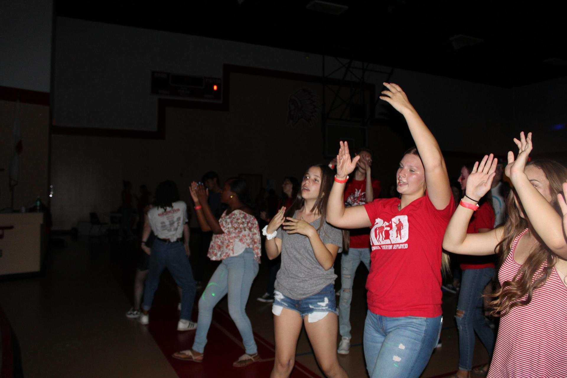 Students having fun at the Back To School Dance
