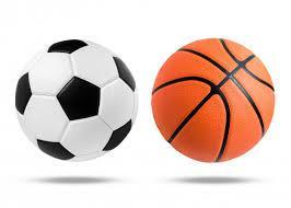 picture of basketball and soccer ball