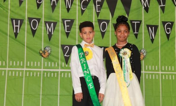Plaisance Middle School 6th Grade Prince & Princess Mark Fontenot & Sierra Joseph !