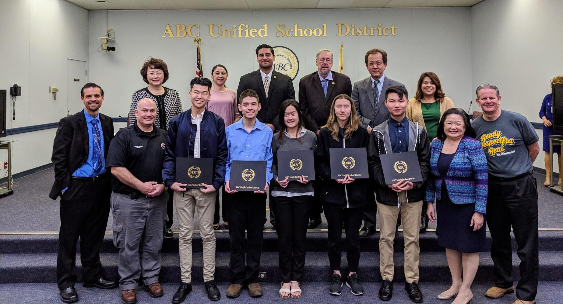 Cyber Patriot Team Awards at District Office
