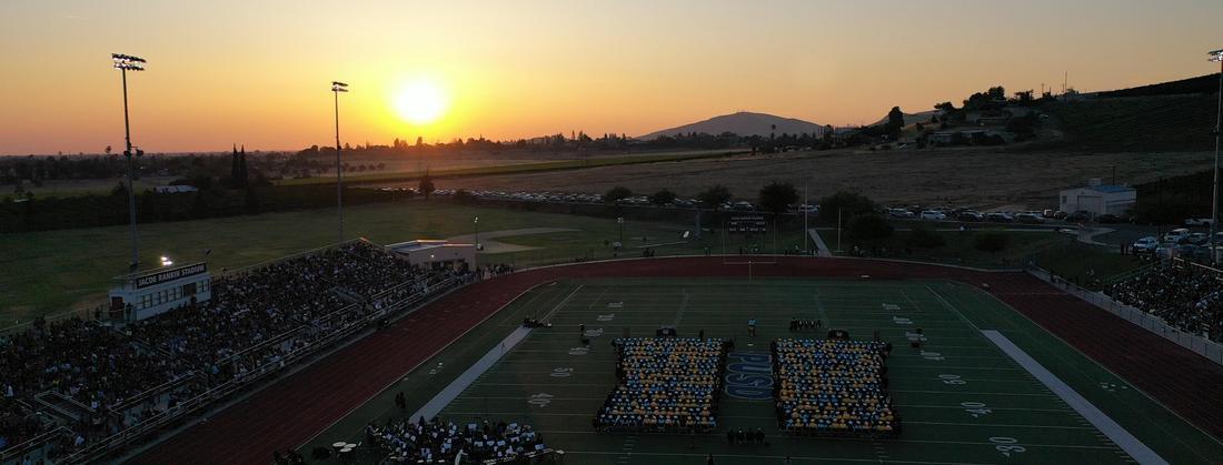 Graduation drone shot
